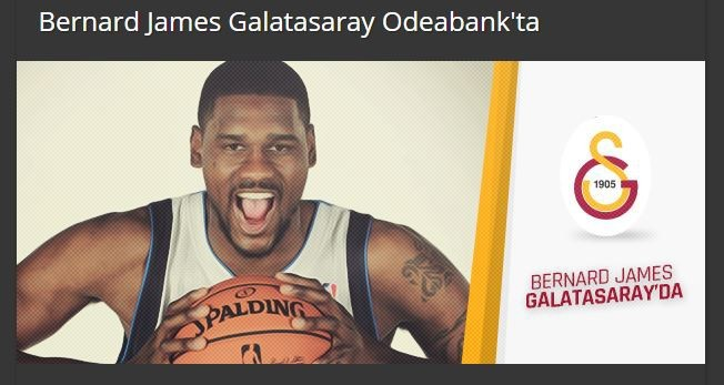 Bernard James Galatasaray'da