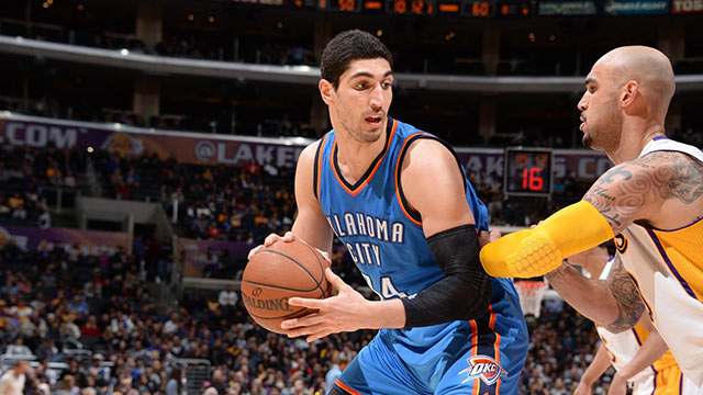 Enes Kanter'den double double