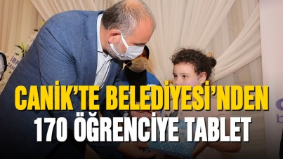 Canik'ten 170 öğrenciye tablet